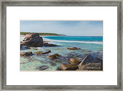 Oceans Edge Framed Print by Gary Leathendale