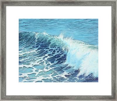 Ocean's Might Framed Print