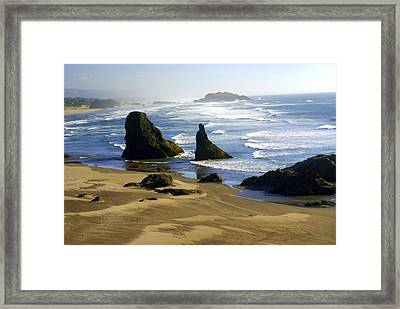 Oceanscape Framed Print by Marty Koch