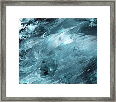 Oceanside 2- Art By Linda Woods Framed Print