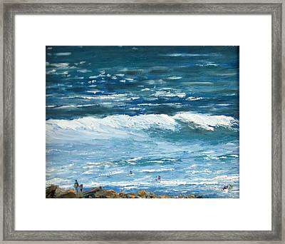 Oceanside 3 O'clock Framed Print