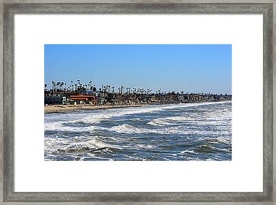 Framed Print featuring the photograph Oceanside by AJ Schibig