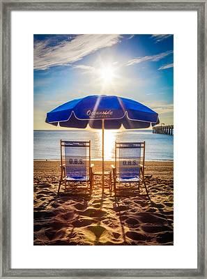Oceanside Framed Print by Debra and Dave Vanderlaan