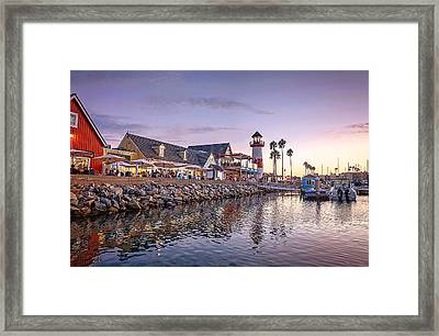 Oceanside Harbor Framed Print by Ann Patterson