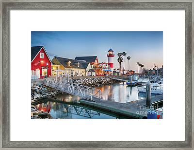 Oceanside Harbor Village At Dusk Framed Print