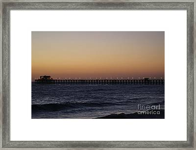 Oceanside Pier Framed Print by Jenny Revitz Soper