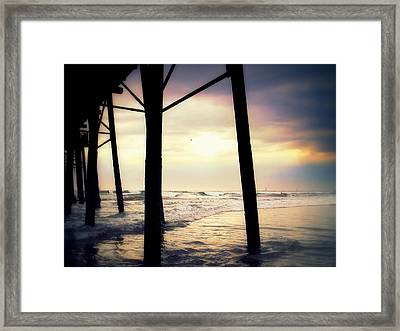 Framed Print featuring the photograph Oceanside - Late Afternoon by Glenn McCarthy
