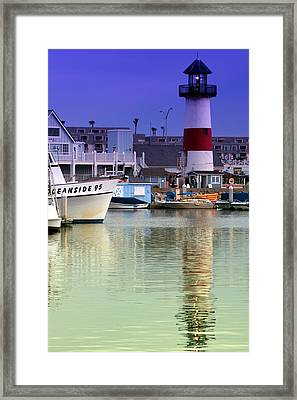Oceanside Light Framed Print