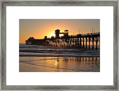 Oceanside Pier Framed Print