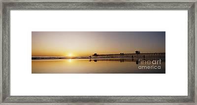 Oceanside Pier, California Framed Print by Bill Schildge - Printscapes