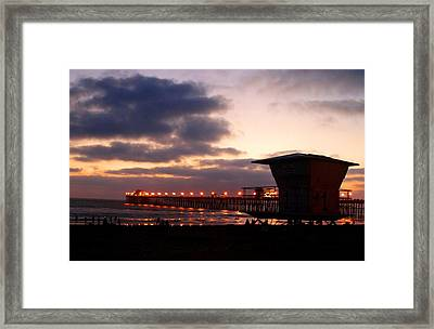 Framed Print featuring the photograph Oceanside Pier by Christopher Woods