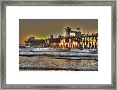 Oceanside Pier Hdr  Framed Print