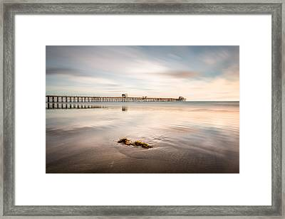 Framed Print featuring the photograph Oceanside Pier Pastels by Alexander Kunz