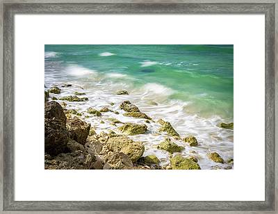Oceanside In Trelawny, Jamaica Framed Print