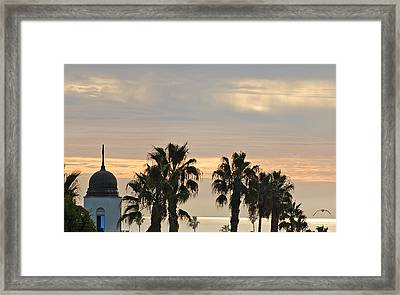 Oceanside Sky Framed Print by Jean Booth