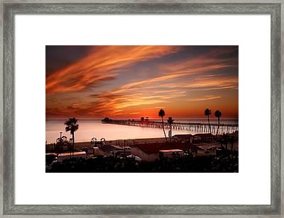 Oceanside Sunset 10 Framed Print by Larry Marshall