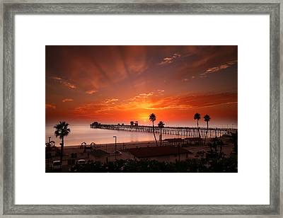 Oceanside Sunset 9 Framed Print by Larry Marshall