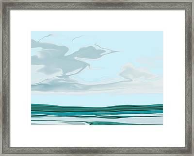 Oceanus Iv Framed Print by Pauline Thomas