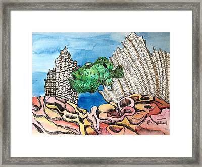 Ocellated Frogfish Framed Print