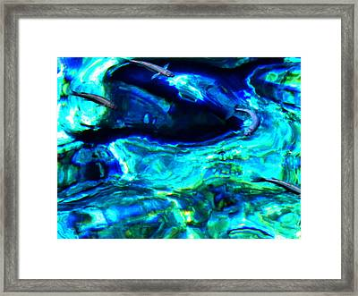 Framed Print featuring the photograph Ocean Reflections  by Colette V Hera  Guggenheim