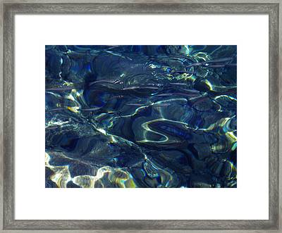 Framed Print featuring the photograph Ocean Water Reflections.santorini Island Greece by Colette V Hera  Guggenheim