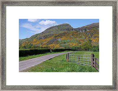 Framed Print featuring the photograph Ochil Hills In Clackmannanshire by Jeremy Lavender Photography