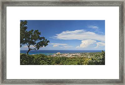 Ocho Rios From Ysassis Lookout Point Framed Print
