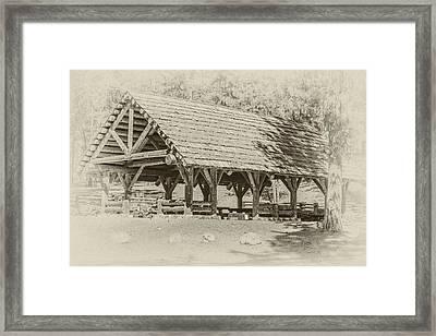 Ochoco Nf Group Pavilion Framed Print by Joe Hudspeth