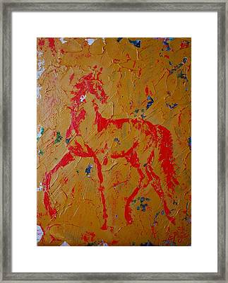 Ochre Horse Framed Print