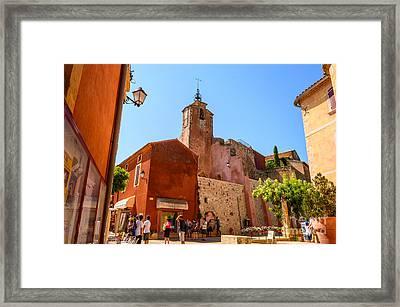 Ochre In Provence, Roussillon Framed Print by Sinisa CIGLENECKI