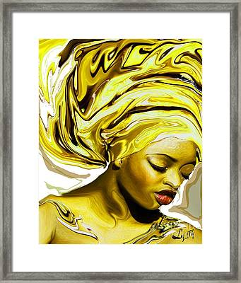 Ochun Ede Framed Print by Liz Loz