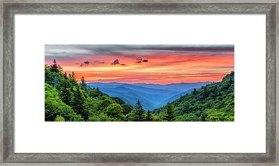 Oconaluftee Valley Sunrise Framed Print by Stephen Stookey