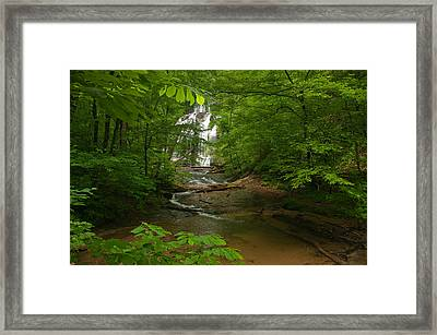 Oconee Station Waterfall Framed Print by David Waldrop