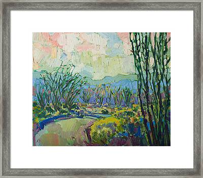 Framed Print featuring the painting Ocotillo Forest by Erin Hanson