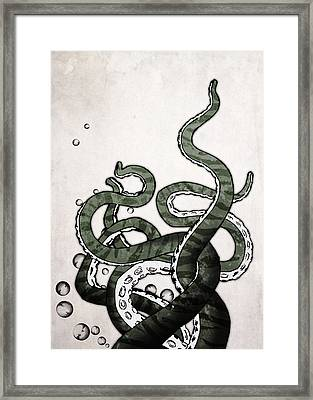 Octopus Tentacles Framed Print by Nicklas Gustafsson
