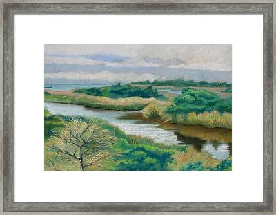 Ocracoke Afternoon Framed Print by Shirley Galbrecht