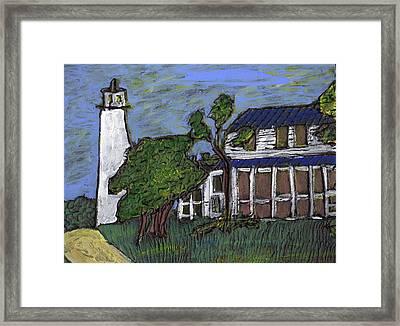 Ocracoke Island Light House Framed Print
