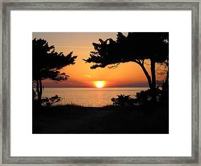 Ocracoke Island Winter Sunset Framed Print