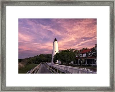 Ocracoke Lighthouse 01 Framed Print