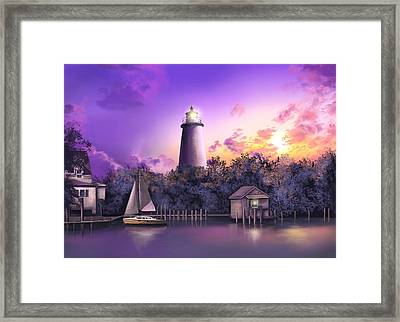 Ocracoke Lighthouse Framed Print by Bekim Art