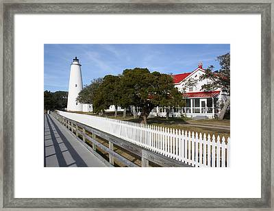 Framed Print featuring the photograph Ocracoke Lighthouse by Tony Cooper