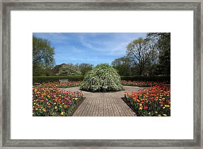 Octagon Garden At Cantigny Park Framed Print by Rosanne Jordan