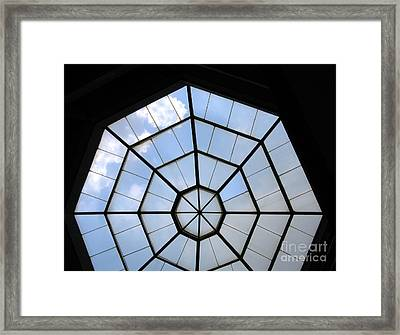 Octagon Skylight Framed Print by Yali Shi