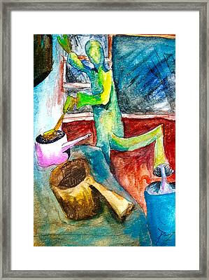 Octavius The Cook Framed Print by Original Art For your home
