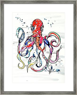 Octo Baby Framed Print by Reba Mcconnell