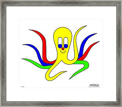 Octo-pus The Cuttlefish Framed Print by Asbjorn Lonvig