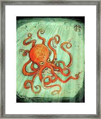Octo Tako With Surprise Framed Print