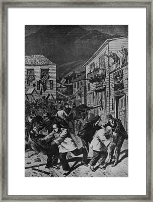 October 31, 1880 Anti-chinese Riot Framed Print