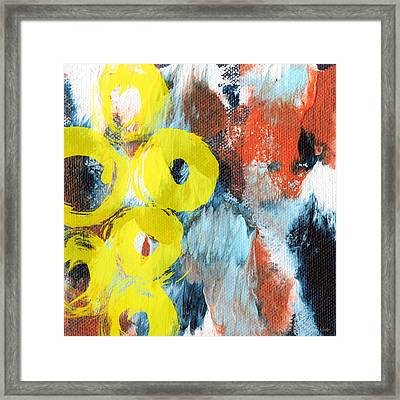 October- Abstract Art By Linda Woods Framed Print