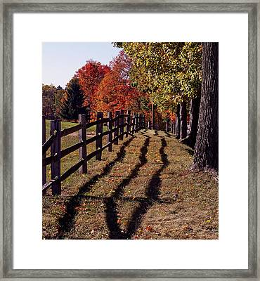 October Afternoon Cuyahoga Valley National Park Framed Print